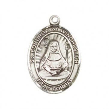 St. Edburga of Winchester Medium Pendant