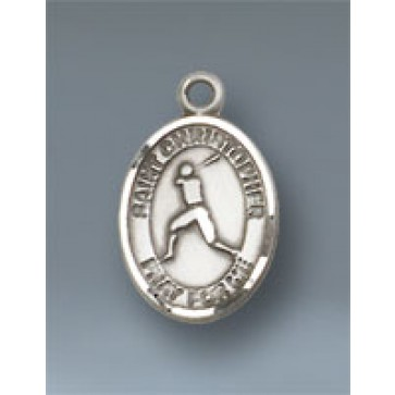 St. Christopher/Baseball Small Pendant