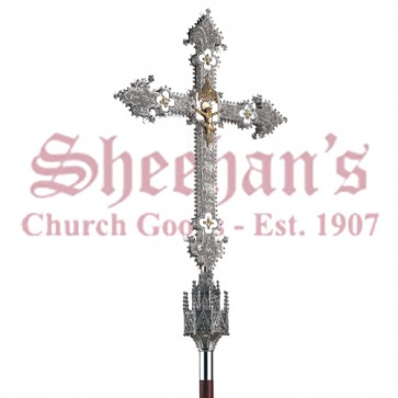 Gothic Processional Crucifix from Artistic Silver