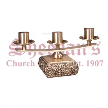 Altar Candelabra in High Relief Bronze Finish