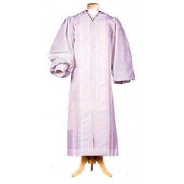 White Liberty Pulpit Robe with White Velveteen Panels