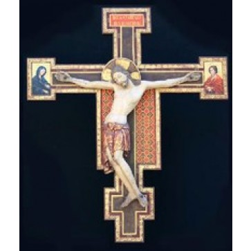 Wood Carve Crucifix by Cimabue