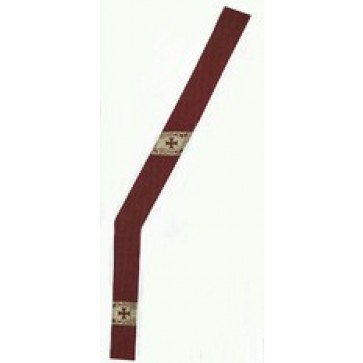 Embroidered Canterbury Cross Deacon Stole