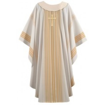 Cream and Gold Chasuble with Jubilee Cross