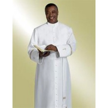Murphy White Cassock with Embroidered Crosses