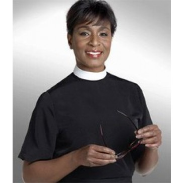 Ladies Short Sleeve Shell Neckband Clergy Shirt from Murphy