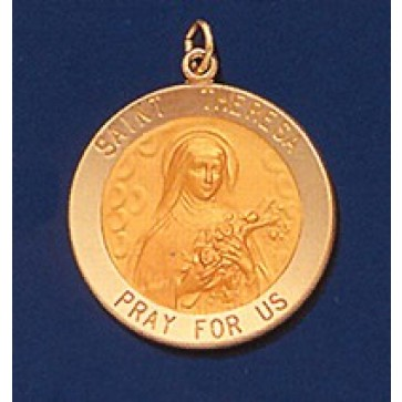 Saint Theresa 14K Gold Medal