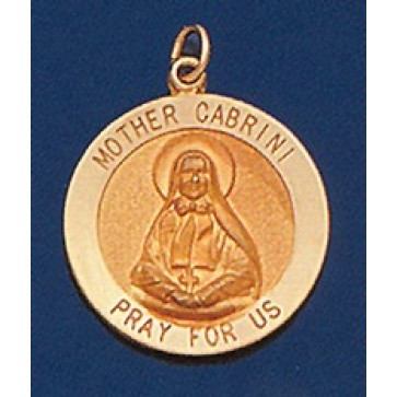 Mother Cabrini 14k Gold Round Medal