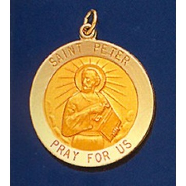 Saint Peter 14K Gold Medal