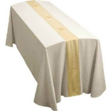 Gold Festive With Gold Crosses on Cream Abbey Funeral Pall