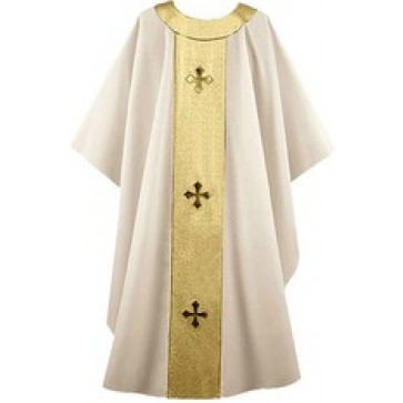 Cream and Gold Festive Chasuble