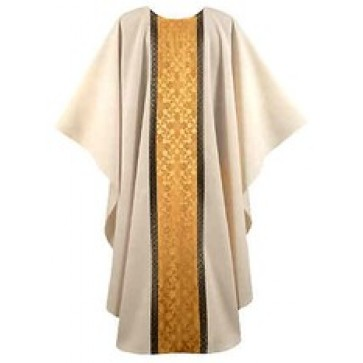 Cream with Gold Windsor Orphrey Chasuble