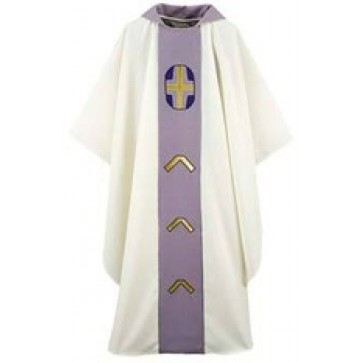 White with Grey Chasuble