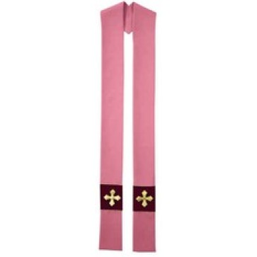 Royale Rose and Maroon Stole