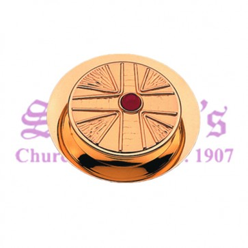 """Stone and Cross"" Motif Communion Pyx"