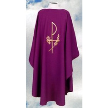 Chasuble with Chi Rho symbol