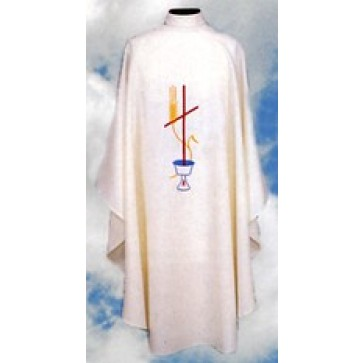 Chasuble with Chalice, Wheat and Cross