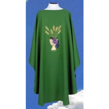 Chasuble with Chalice, Grapes and Wheat