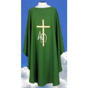 Chasuble with Cross, Alpha and Omega