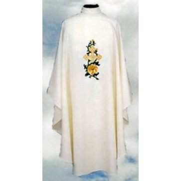 Chasuble with Gold Cross and Green Vine