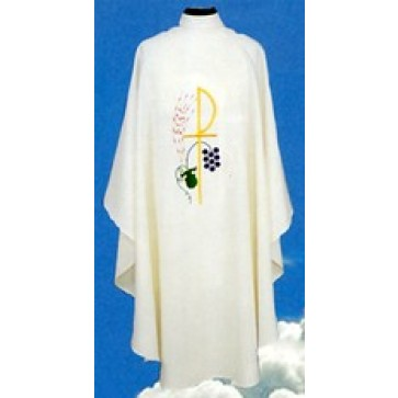 Chasuble with Chi Rho Wheat and Grapes