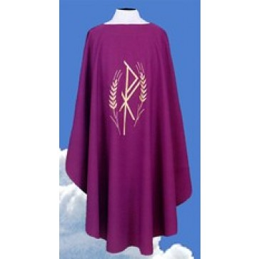 Chasuble with Chi Rho Wheat Symbol