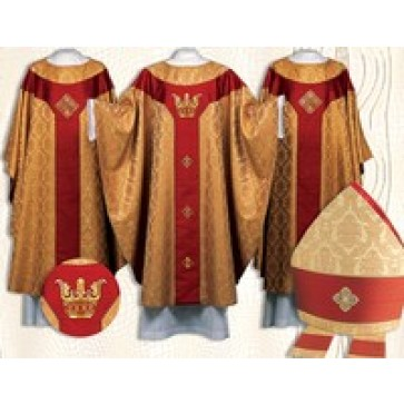 Crown Brocade Chasubles and Mitre