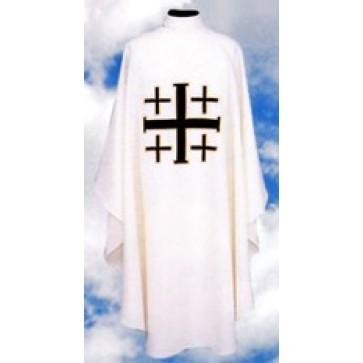 Chasuble with Jerusalem Cross