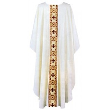 Chasuble with Metallic Banding
