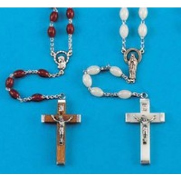 Plastic Rosary - 8 Colors