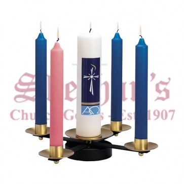 Wrought Iron with Brass Sockets Advent Wreath