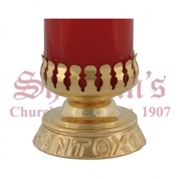 Gold Plated Devotional Candle Stand