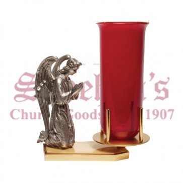 Brass Plated Sanctuary Lamp Stand