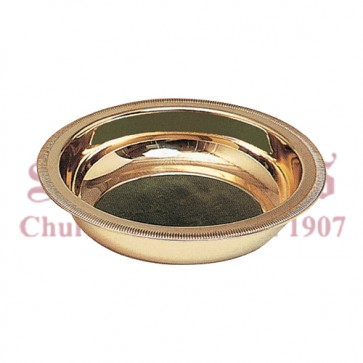 Brass Collection Plate with Green Pads