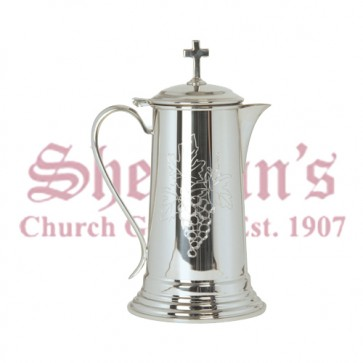 Pewter Flagon with Engraved Design