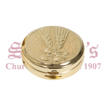 Pyx with Wheat and Bread Design