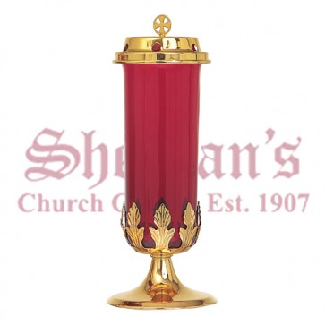 Bright Gold Plate 7 Day Votive Stand