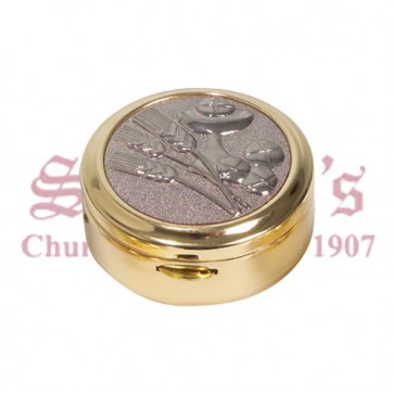 Gold Plated Pyx with Silver Plated Lid
