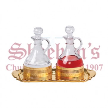 Gold Plated Processional Cruet Set