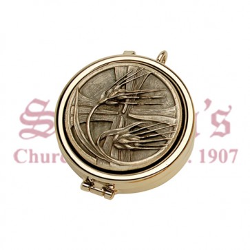 Pyx with Wheat and Cross Design