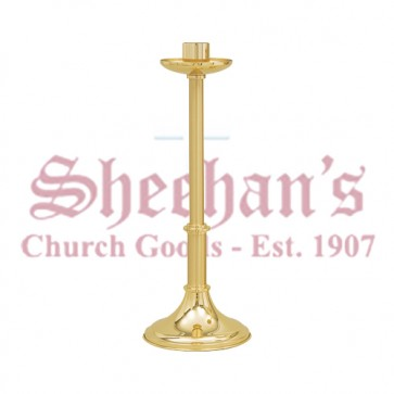 Two-tone Finish Low Profile Paschal Candle Holder