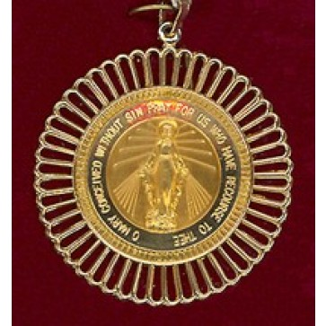 Miraculous 14K Gold Medal with Filagree