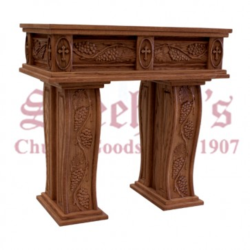 Credence Table with Custom Carved Grapes and Leaves