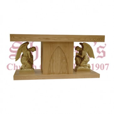 Altar with Angels Finished in Gold Pigment