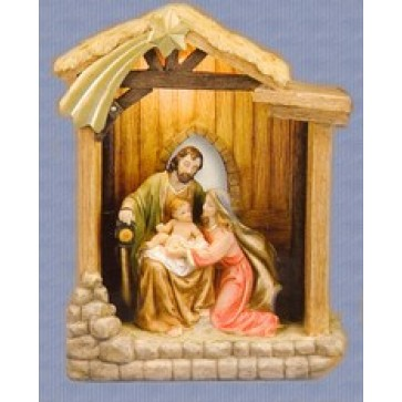 Holy Family Accented with  Gold Leaf from the Bethlehem Collection