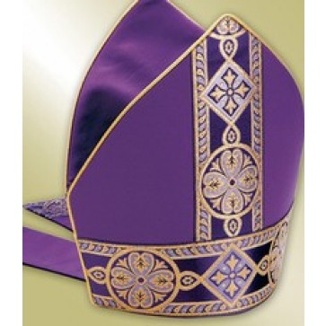 Purple Mitre with Gold Brocade