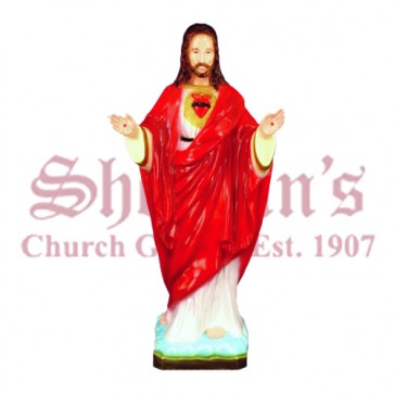 "Sacred Heart of Jesus 24"" Arms Out Outdoor Statue"