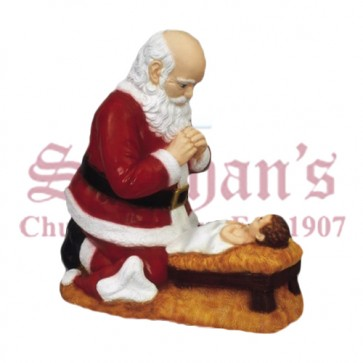 Outdoor Kneeling Santa 24""