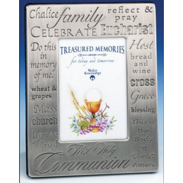 First Communion Pewter Frame