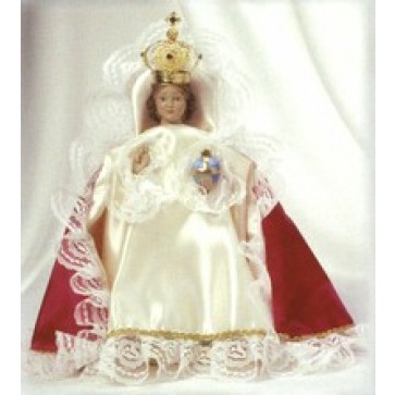 Infant of Prague Statue with Dress -  Out of Stock Until December